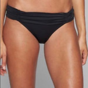 Athleta size S High Dive Gather bottom black